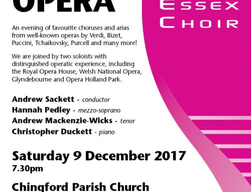 UPCOMING: SWEC CONCERT- A NIGHT AT THE OPERA