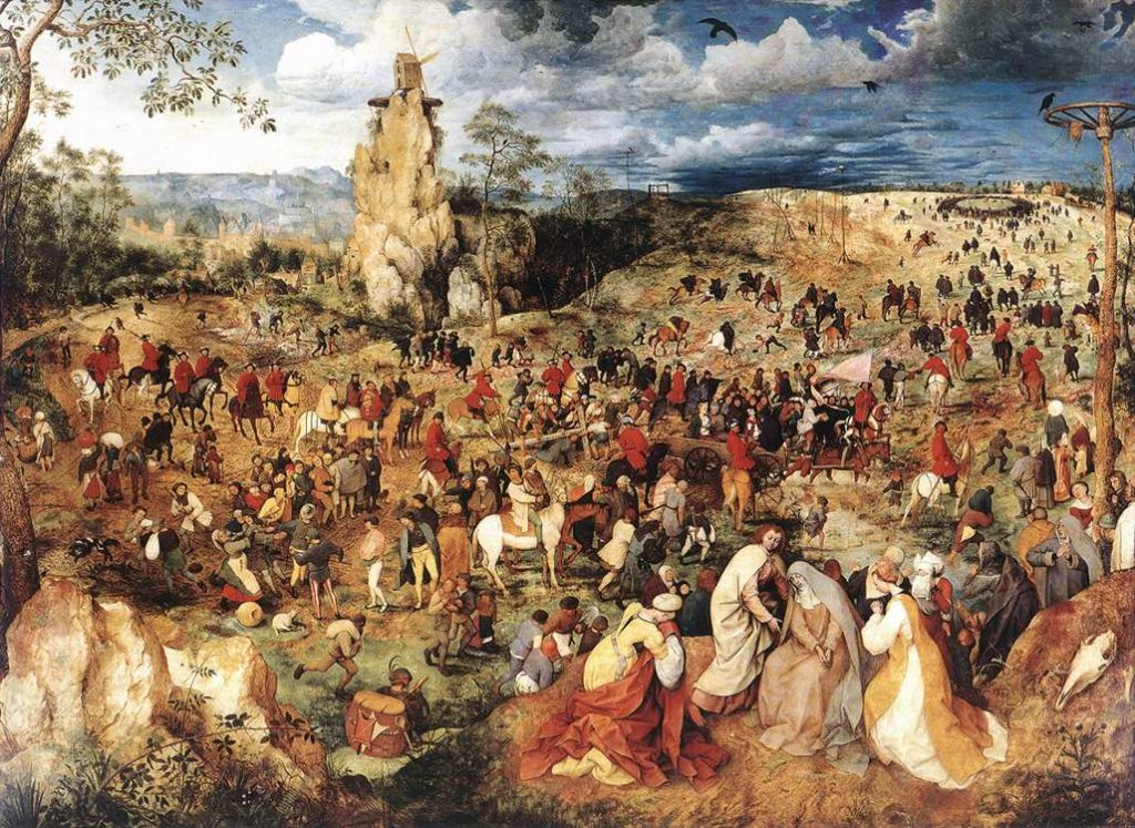 Pieter Brueghel the Elder (1526/1530–1569) The Procession to Calvary 1564 Oil on oak wood, 124 cm x 170 cm Kunsthistorisches Museum, Vienna